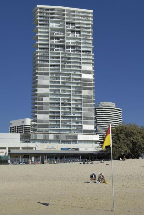Building as viewed from beach - Air on Broadbeach