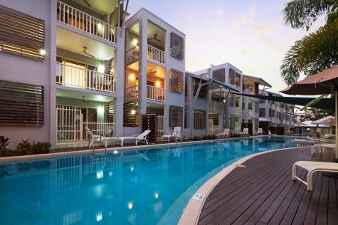 Exterior of Apartments at night - Mantra Aqueous on Port