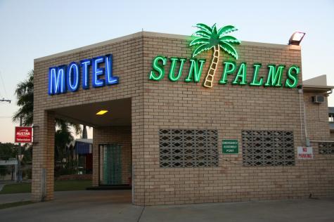 Motel Entrance - Sun Palms Motel